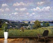 The Valley of the Seine at Saint-Cloud, 1875 (oil on canvas) wall mural kitchen preview