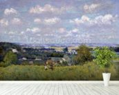 The Valley of the Seine at Saint-Cloud, 1875 (oil on canvas) wall mural in-room view