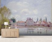 The Bridge at Moret-sur-Loing, 1890 wallpaper mural living room preview