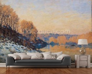 Port-Marly, White Frost, 1872 (oil on canvas) wall mural