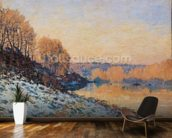 Port-Marly, White Frost, 1872 (oil on canvas) wall mural kitchen preview
