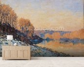 Port-Marly, White Frost, 1872 (oil on canvas) wall mural living room preview