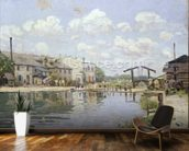 The Canal Saint-Martin, Paris, 1872 (oil on canvas) wall mural kitchen preview