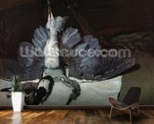 Still-Life: Heron with Spread Wings, 1867 (oil on canvas) mural wallpaper kitchen preview
