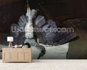 Still-Life: Heron with Spread Wings, 1867 (oil on canvas) mural wallpaper living room preview