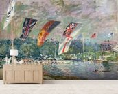Regatta at Molesey, 1874 (oil on canvas) (see also 144130) wallpaper mural living room preview