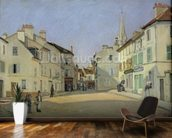 Rue de la Chaussee at Argenteuil, 1872 (oil on canvas) mural wallpaper kitchen preview