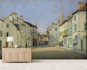 Rue de la Chaussee at Argenteuil, 1872 (oil on canvas) mural wallpaper living room preview