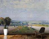 The Road to Montbuisson at Louveciennes, 1875 (oil on canvas) wall mural kitchen preview