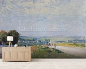 The Road to Montbuisson at Louveciennes, 1875 (oil on canvas) wall mural living room preview