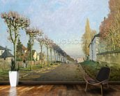 Rue de la Machine, Louveciennes, 1873 (oil on canvas) wallpaper mural kitchen preview