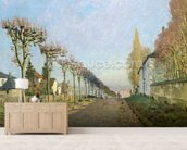 Rue de la Machine, Louveciennes, 1873 (oil on canvas) wallpaper mural living room preview