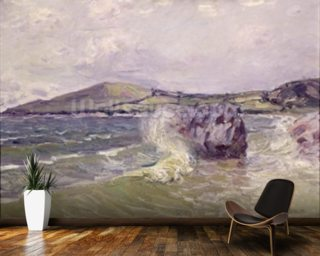 Ladys Cove, Wales, 1897 (oil on canvas) mural wallpaper