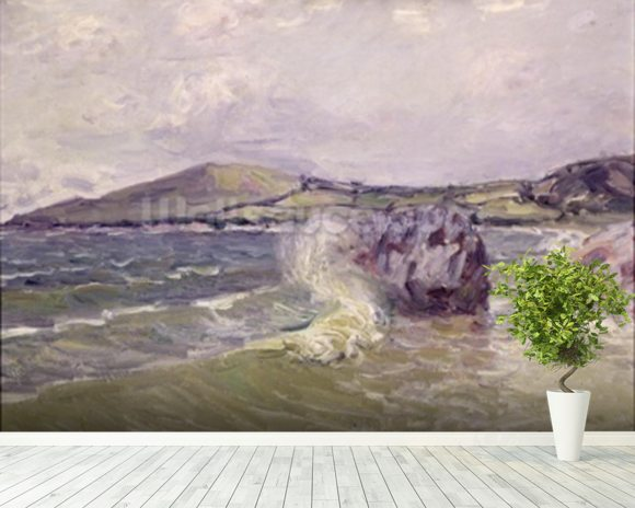 Ladys Cove, Wales, 1897 (oil on canvas) mural wallpaper room setting