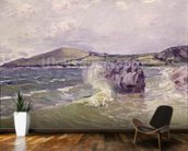 Ladys Cove, Wales, 1897 (oil on canvas) mural wallpaper kitchen preview