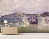 Ladys Cove, Wales, 1897 (oil on canvas) mural wallpaper living room preview