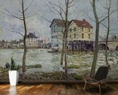 The Mills at Moret-sur-Loing, Winter, 1890 wall mural kitchen preview
