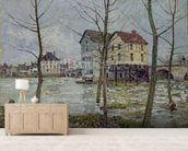 The Mills at Moret-sur-Loing, Winter, 1890 wall mural living room preview