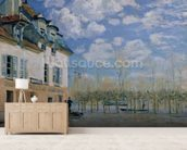 The Boat in the Flood, Port-Marly, 1876 (oil on canvas) wallpaper mural living room preview