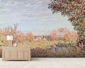 September Morning, c.1887 (oil on canvas) wall mural living room preview