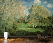 The Garden of Hoschede Family, 1881 (oil on canvas) wall mural kitchen preview