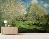 The Garden of Hoschede Family, 1881 (oil on canvas) wall mural living room preview