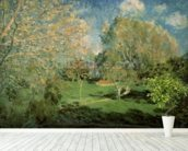 The Garden of Hoschede Family, 1881 (oil on canvas) wall mural in-room view