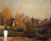 Frosty Morning in Louveciennes, 1873 mural wallpaper kitchen preview
