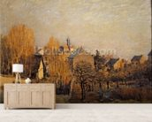 Frosty Morning in Louveciennes, 1873 mural wallpaper living room preview