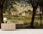 Villeneuve-la-Garenne, or Village by the Seine, 1872 (oil on canvas) wall mural living room preview