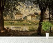 Villeneuve-la-Garenne, or Village by the Seine, 1872 (oil on canvas) wall mural in-room view