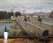 Footbridge at Argenteuil, 1872 (oil on canvas) wall mural kitchen preview