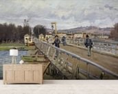 Footbridge at Argenteuil, 1872 (oil on canvas) wall mural living room preview
