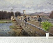 Footbridge at Argenteuil, 1872 (oil on canvas) wall mural in-room view