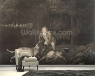 Freeman, Keeper to the Earl of Clarendon, with a hound and a wounded doe, 1804 (mezzotint) wall mural