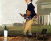 Portrait of a Young Jockey (oil on canvas) mural wallpaper kitchen preview