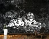 Two Tigers, 1788 (engraving) mural wallpaper kitchen preview