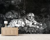 Two Tigers, 1788 (engraving) mural wallpaper living room preview