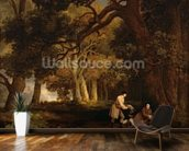 A Repose After Shooting (oil on canvas) mural wallpaper kitchen preview