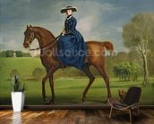 The Countess of Coningsby in the Costume of the Charlton Hunt, c.1760 (oil on canvas) wall mural kitchen preview