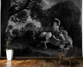 The Farmers Wife and the Raven, engraved by the artist, pub. 1788 (etching) (see also 123112) mural wallpaper kitchen preview