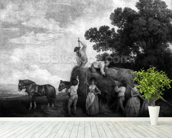 Hay-Makers (engraving) wall mural room setting