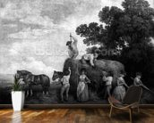 Hay-Makers (engraving) wall mural kitchen preview
