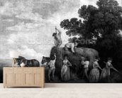 Hay-Makers (engraving) wall mural living room preview