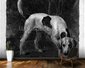 Dog (A Foxhound on the Scent) engraved by the artist, pub. 1788 (etching) mural wallpaper kitchen preview