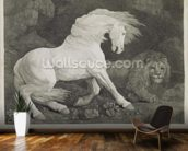 A Horse Affrighted by a Lion, engraved by the artist, pub. 1788 (etching) wall mural kitchen preview