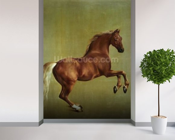 Whistlejacket, 1762 mural wallpaper room setting