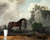 Cato and Groom (oil on canvas) wallpaper mural kitchen preview