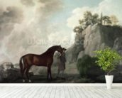 Cato and Groom (oil on canvas) wallpaper mural in-room view