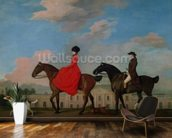John and Sophia Musters riding at Colwick Hall, 1777 mural wallpaper kitchen preview